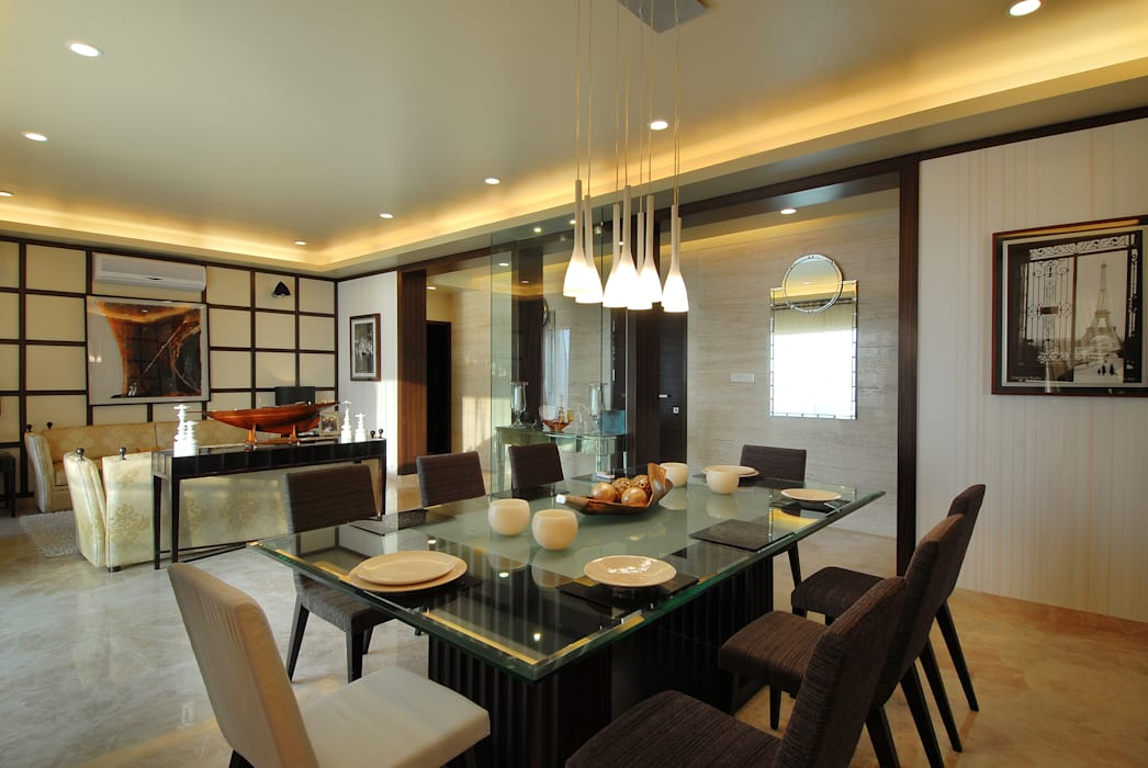 Residence:  Dining room by ozone interior, Modern