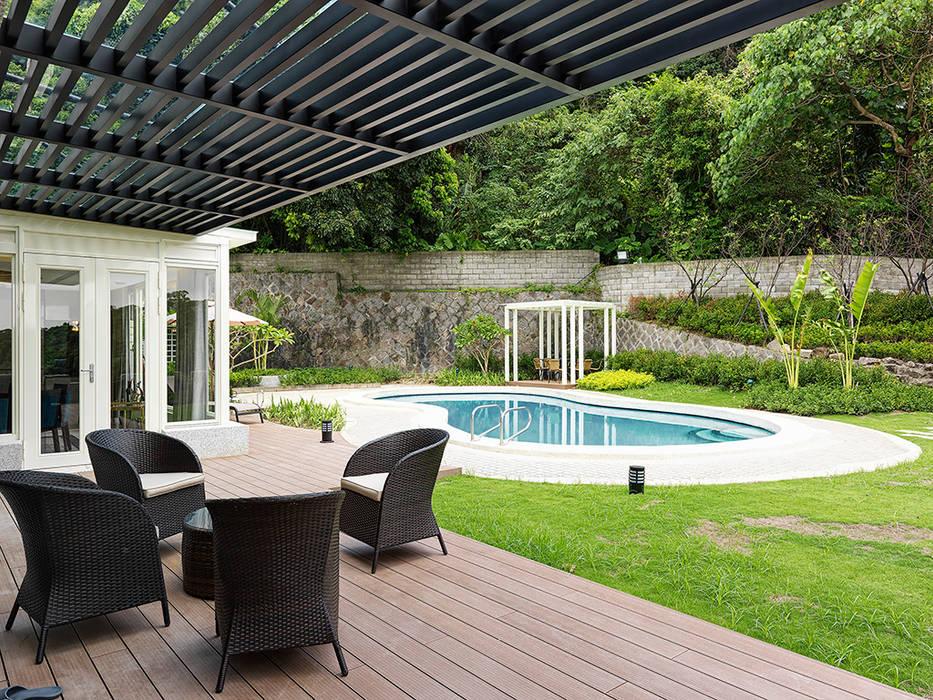 天母泳池別墅會所 根據 ACE 空間制作所 現代風