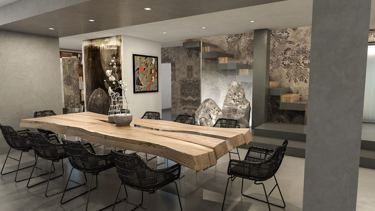 Tavolo da pranzo in legno massello: sala da pranzo in ...