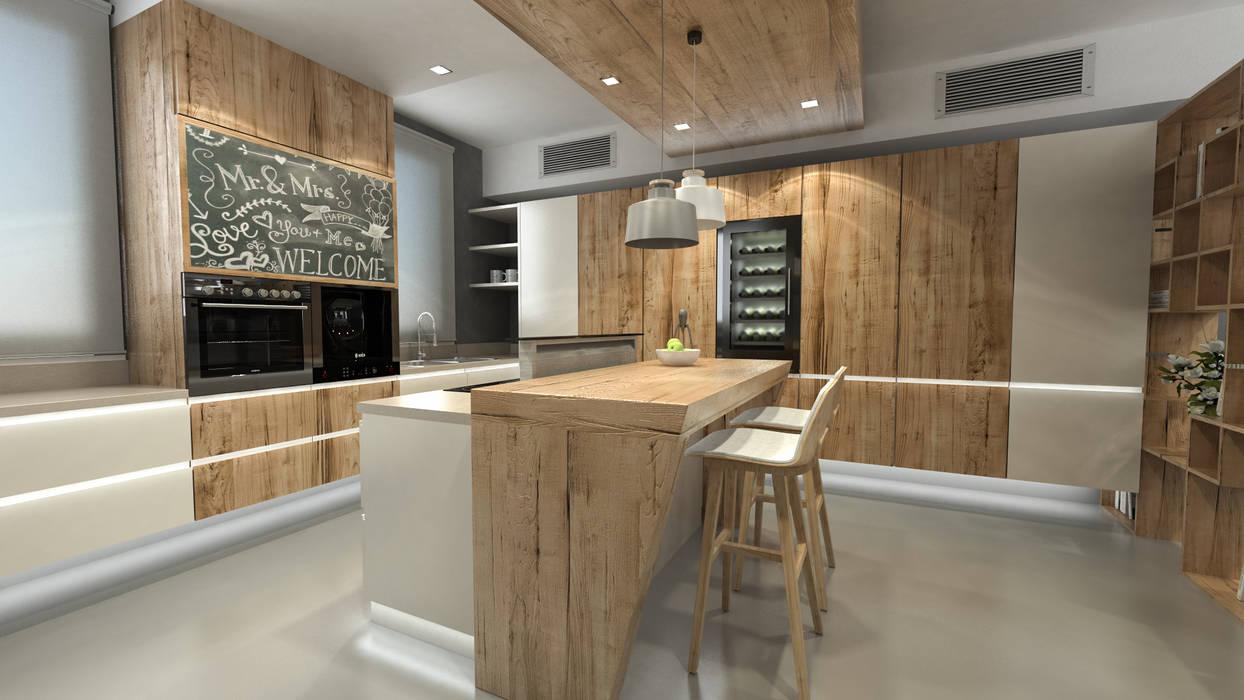 isola cucina Cucina minimalista di studiosagitair Minimalista