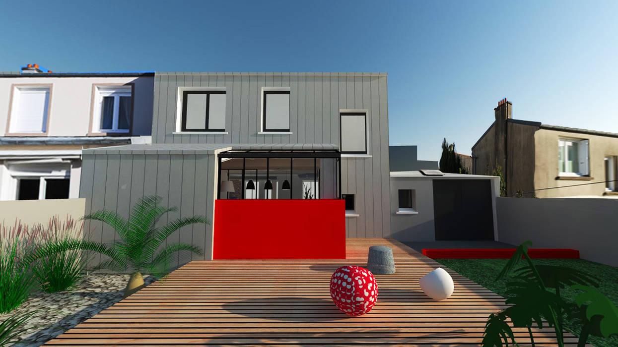 Renovation d'une maison à Brest - Architecture d'intérieur: Salon de style de style Moderne par Ad Hoc Concept architecture