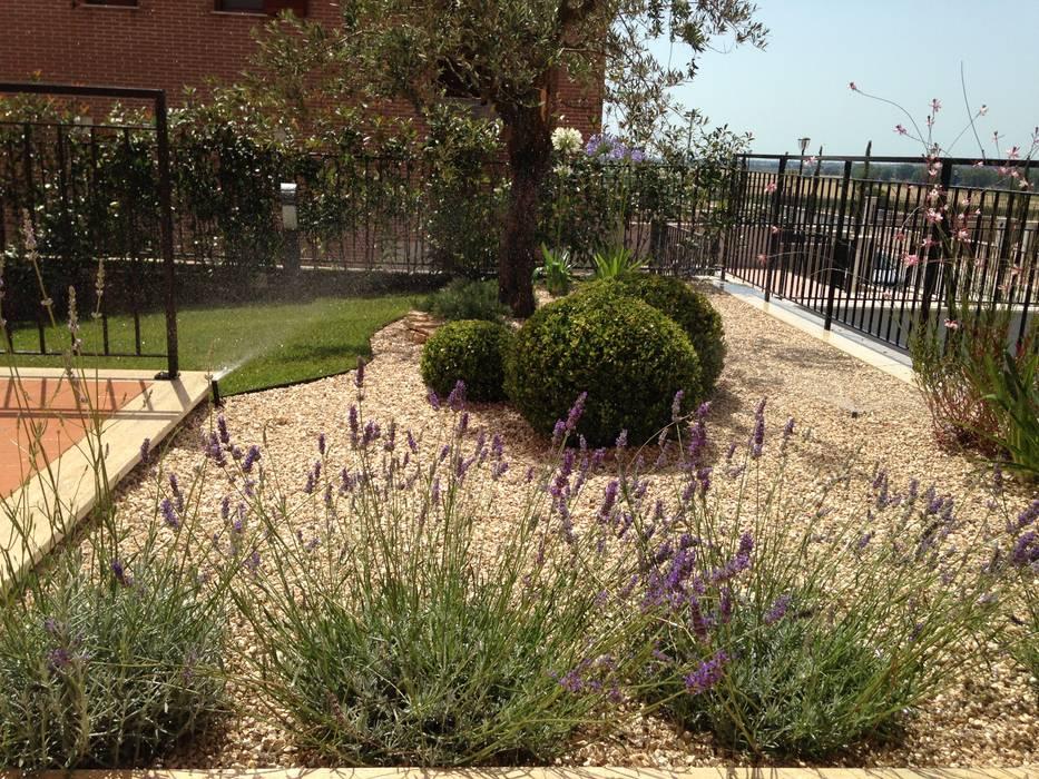 Un giardino mediterraneo: Giardino Zen in stile  di AbitoVerde
