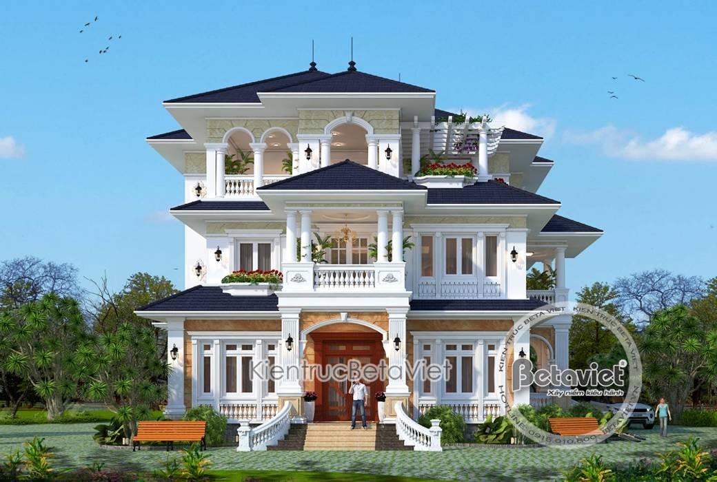 Phối cảnh mẫu biệt thự 3 tầng kiến trúc châu Âu nhà Ông Sơn - Sơn La KT17093 bởi Công Ty CP Kiến Trúc và Xây Dựng Betaviet