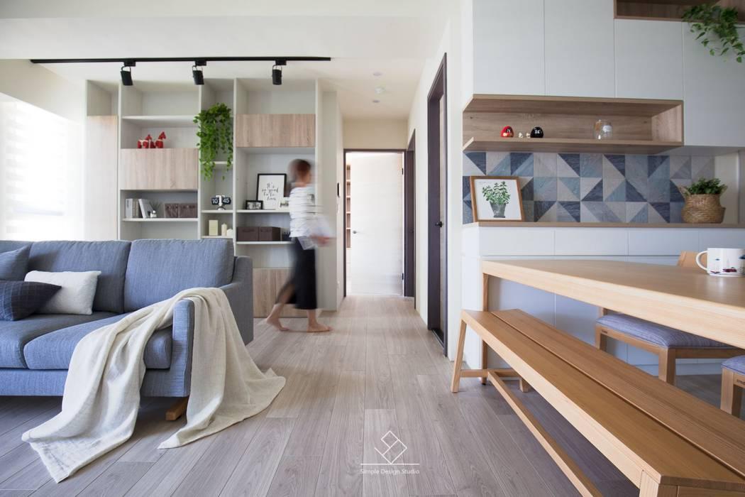 寧靜空間:  書房/辦公室 by 極簡室內設計 Simple Design Studio