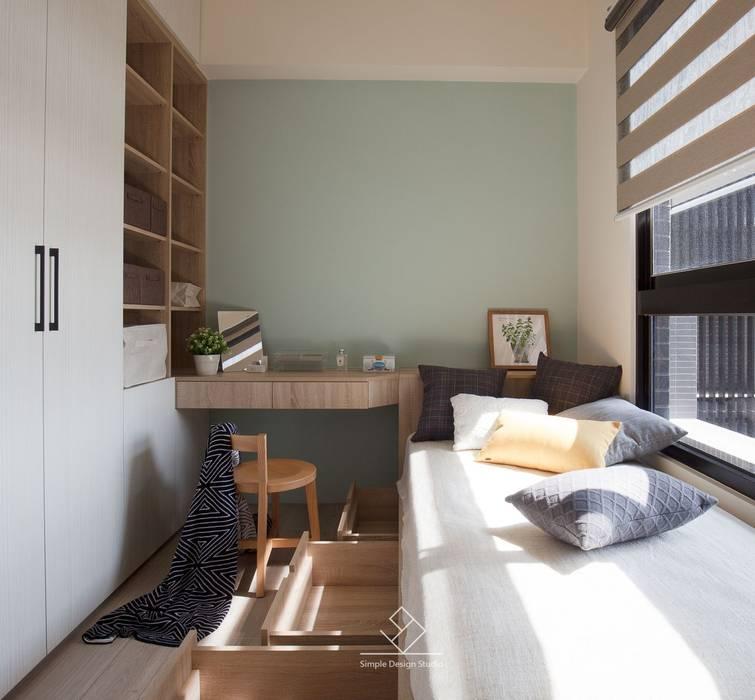 客臥規劃:  臥室 by 極簡室內設計 Simple Design Studio, 北歐風