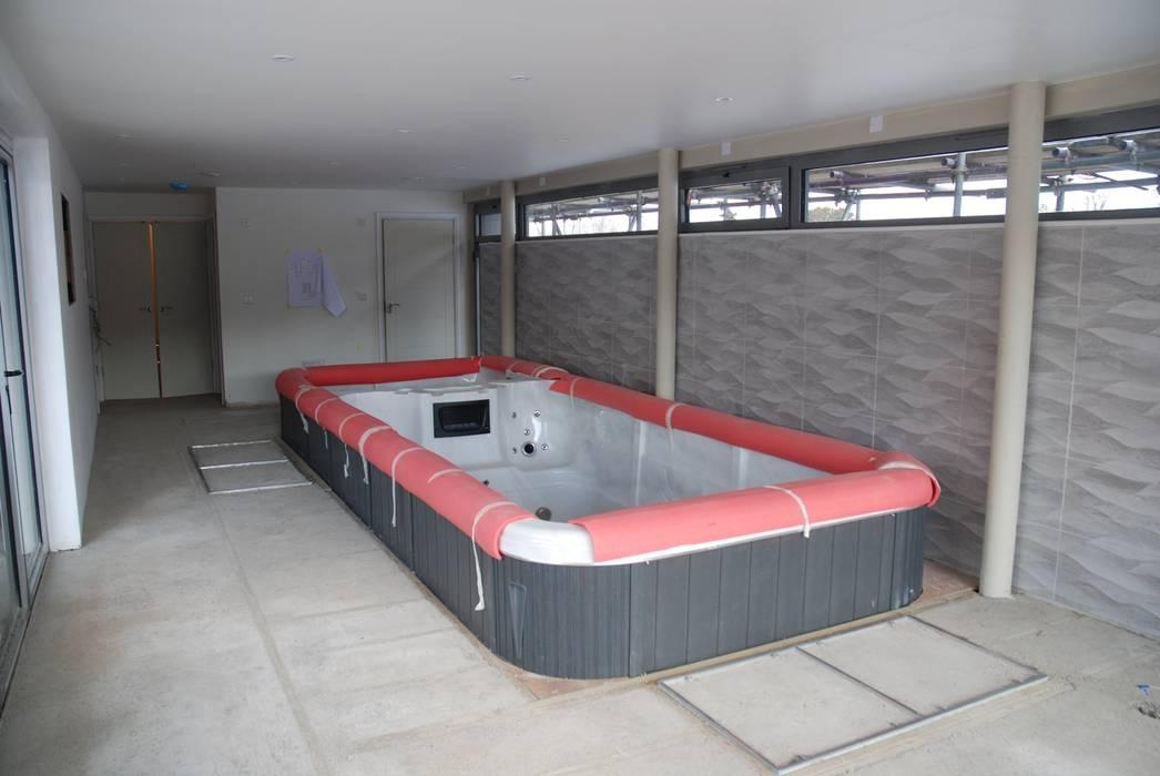 New House, Blewbury:  Sauna by Inspiration Chartered Architects Ltd, Modern