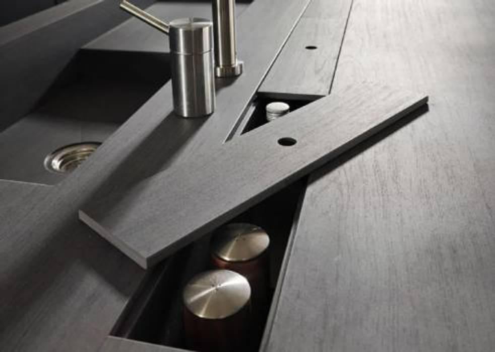 Proyecto de diseño interior y mobiliario Cocinas de estilo minimalista de Felipe Lara & Cía Minimalista Granito