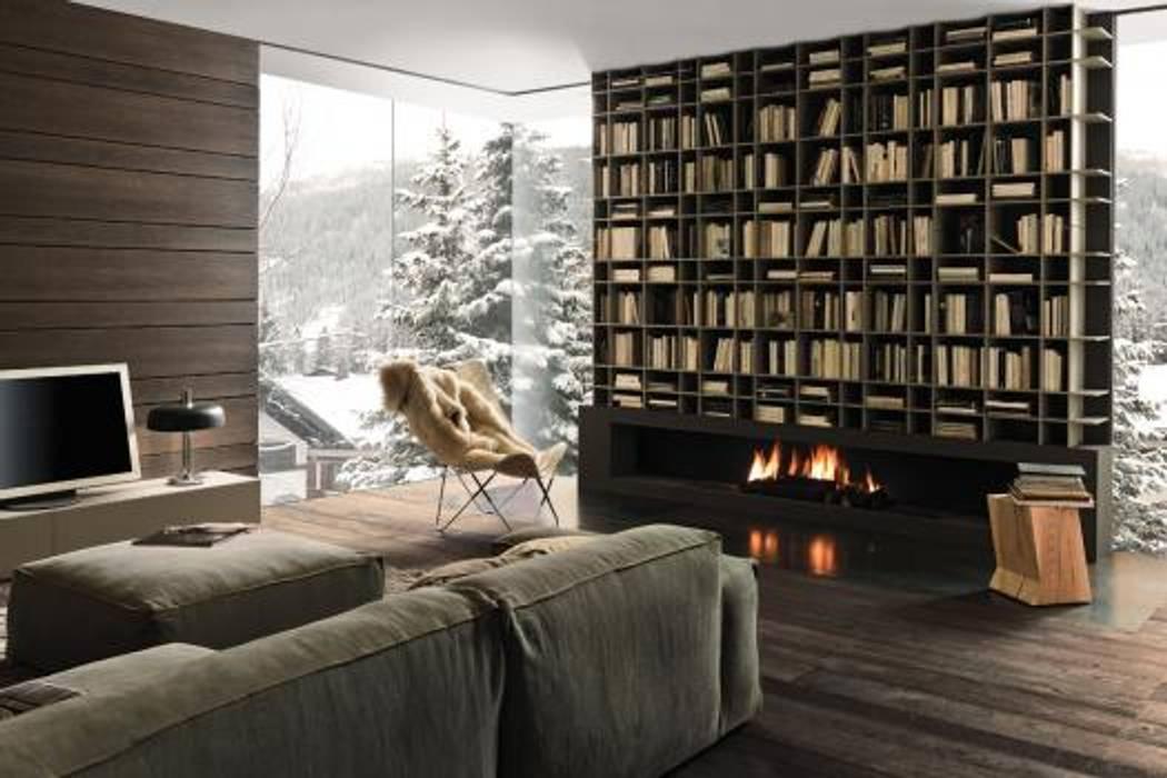 Proyecto de diseño interior y mobiliario Salas modernas de Felipe Lara & Cía Moderno Madera Acabado en madera