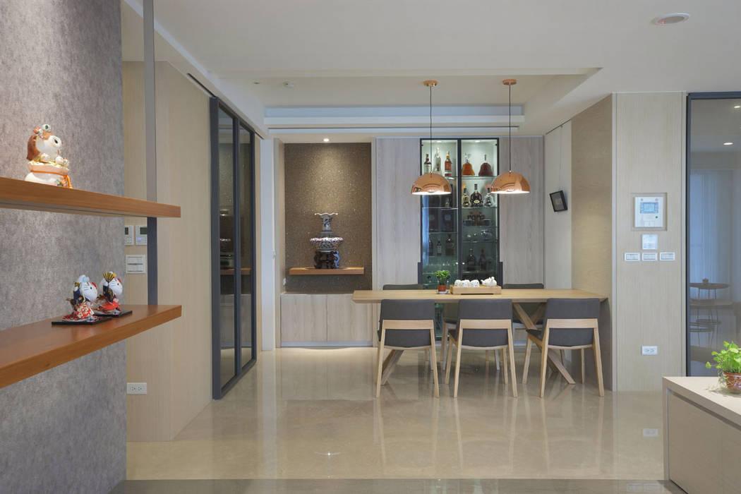 <大樓-3+1房2廳>度假感住宅 貼心三代機能需求:  酒窖 by 品茉空間設計/夏川設計, 北歐風