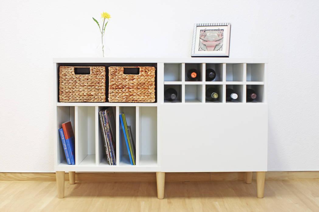 Ikea besta regal im retro look mit möbelfüßen : skandinavische ...