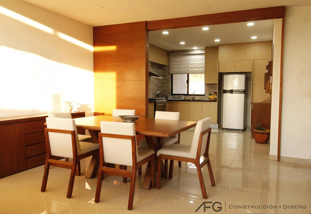 Comedor / cocina: comedores de estilo por afg construcción y diseño ...
