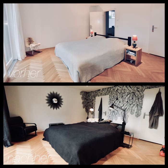Redesign schlafzimmer – vorher / nachher: schlafzimmer von ...