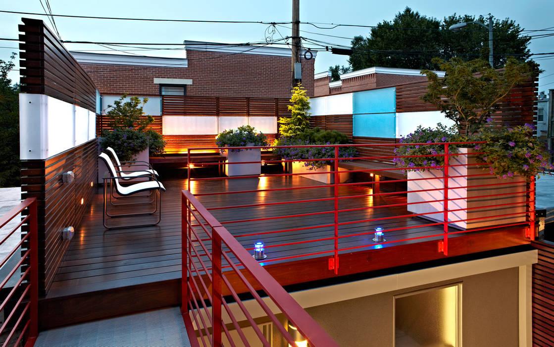 KUBE architecture بالکن،ایوان وتراس