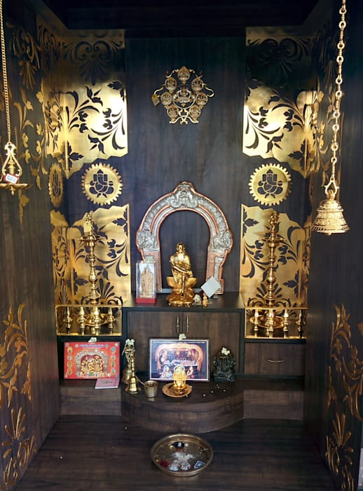 Pooja room Cocepts : asian  by Mantragoldcoatings ,Asian