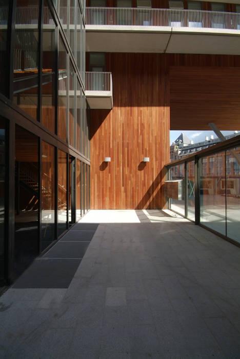 Modern Corridor, Hallway and Staircase by TEKTON architekten Modern