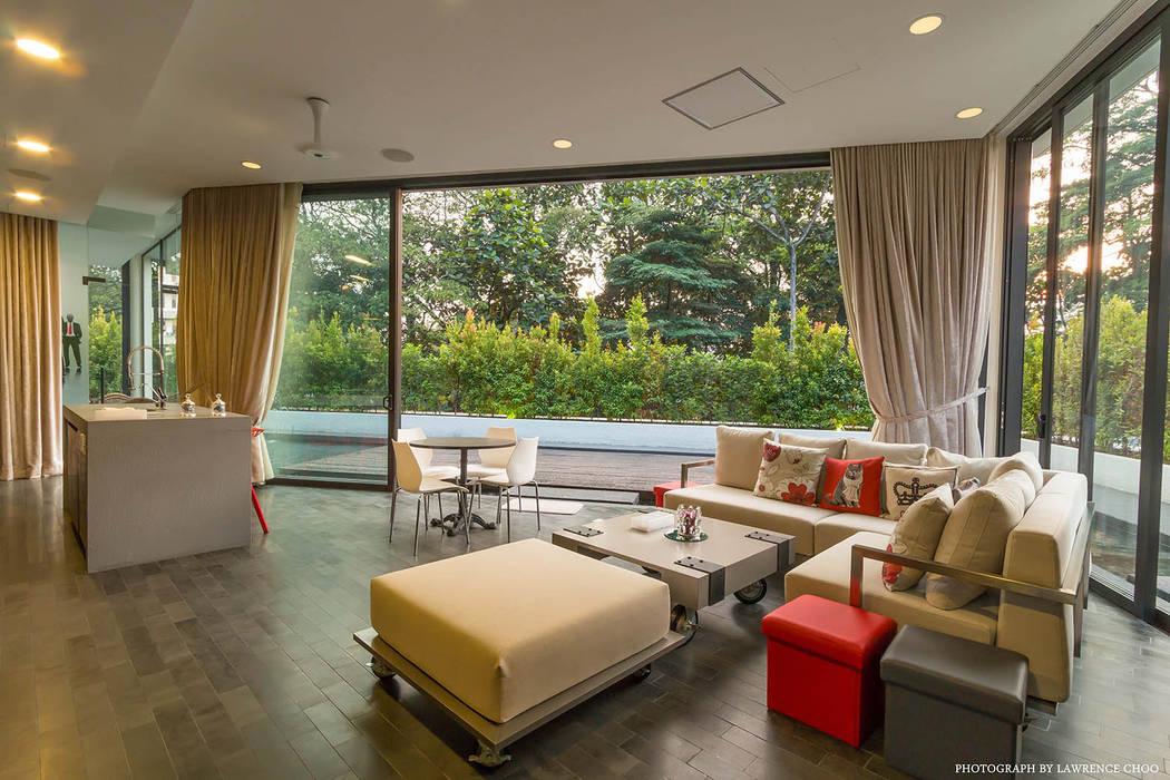 MJ Kanny Architect Balkon, Beranda & Teras Modern