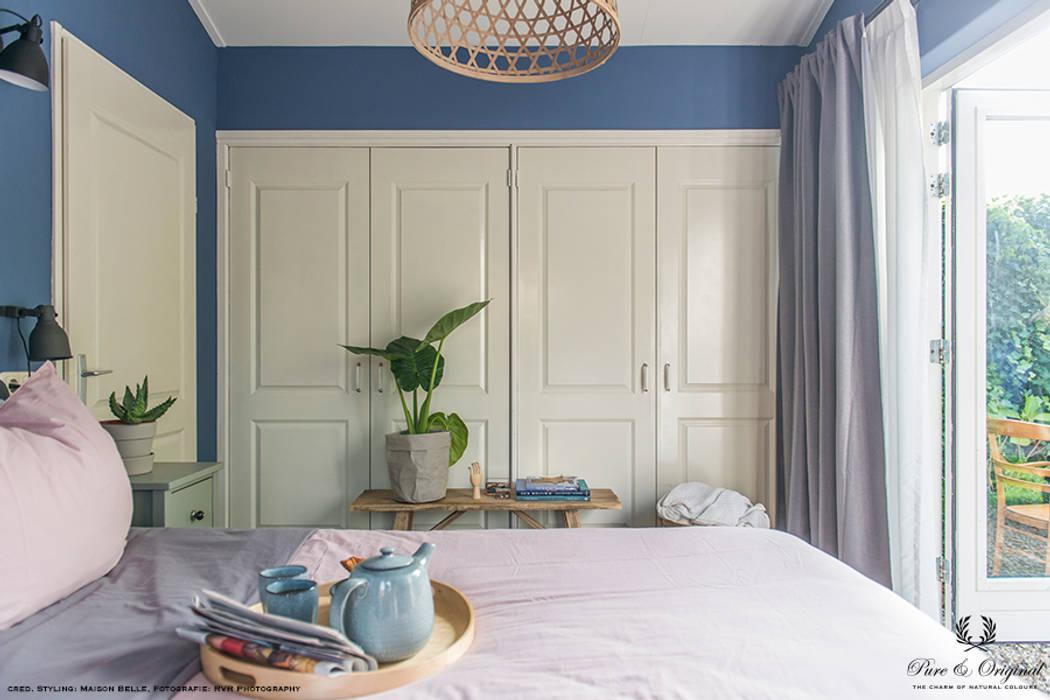 Licetto in de kleur greek sky: moderne slaapkamer door pure