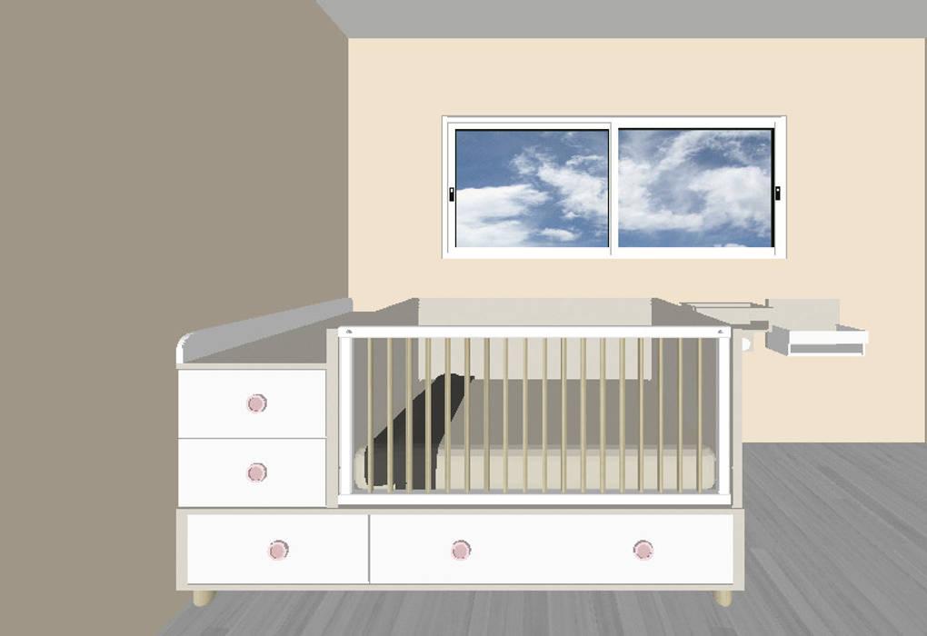 Il lettino trasformabile GROW: Stanza dei bambini in stile  di Spaziojunior
