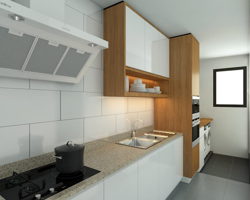 Stonor Luxury Condo:  Kitchen by inDfinity Design (M) SDN BHD, Modern
