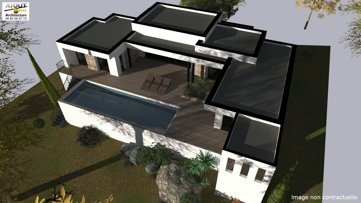Conception et demande de permis de construire par Atoutplans Architecture Moderne