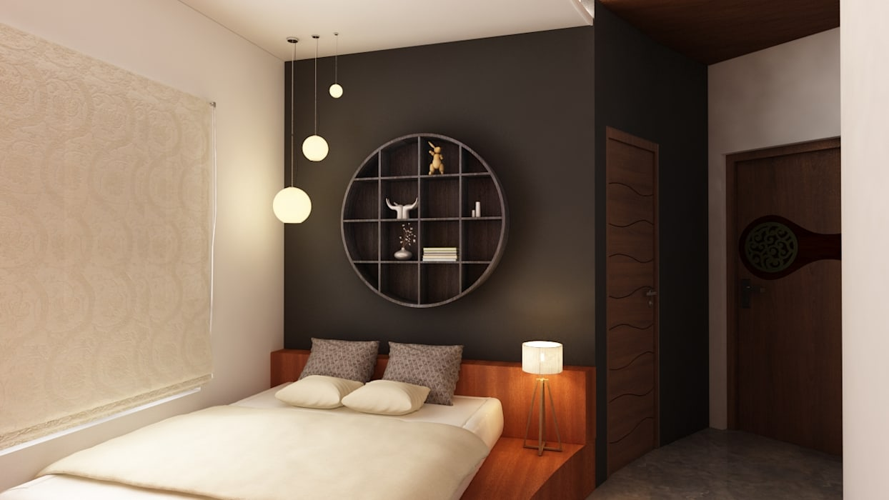 Bedroom by S Squared Architects Pvt Ltd., Tropical Engineered Wood Transparent