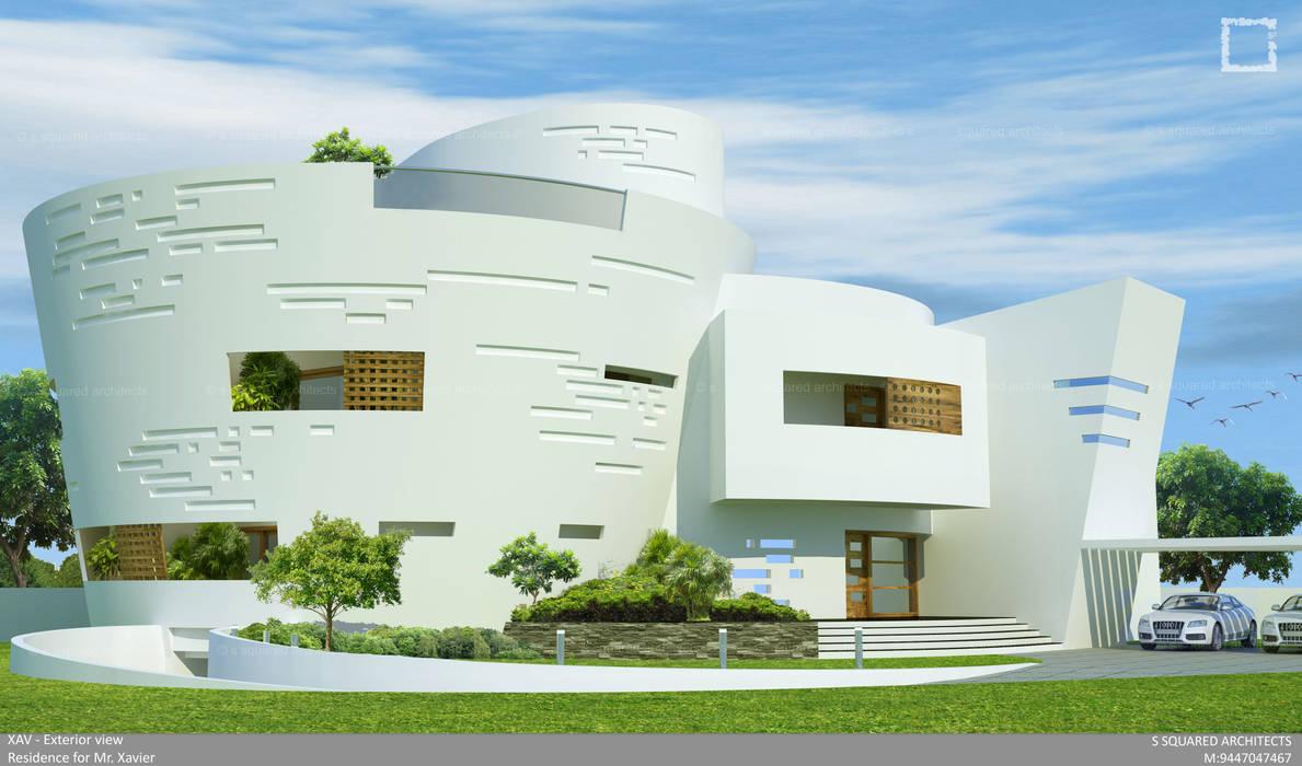 Bungalows de estilo  por S Squared Architects Pvt Ltd.,