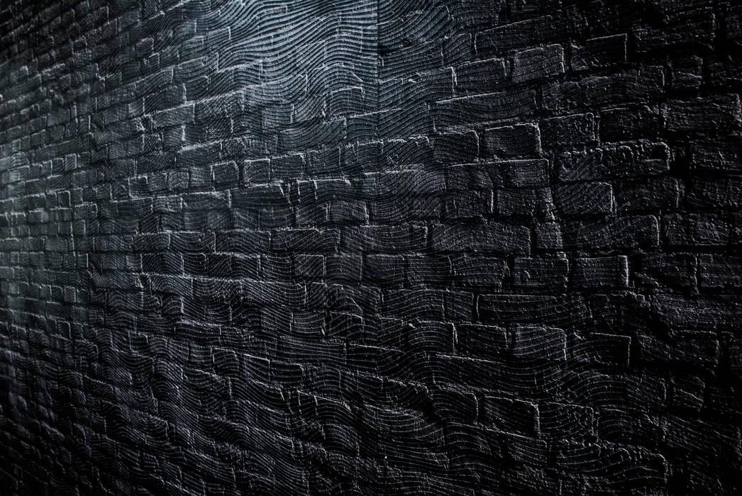 Dijivol Duvar Kağıtları – Siyah Tuğla Görünümlü Dokulu Duvar Kağıdı:  tarz Duvarlar, Klasik