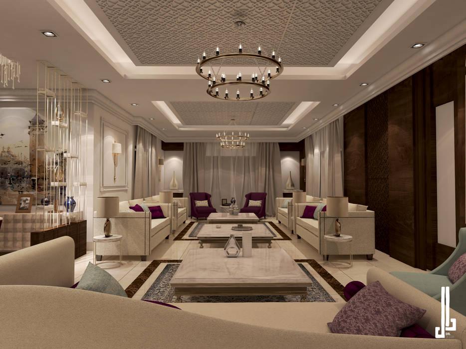 Private villa Salon Modern Living Room by dal design office Modern