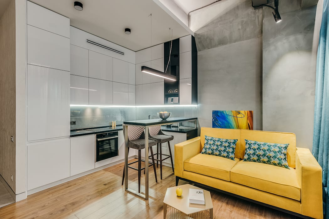 Industrial style kitchen by Alina Lyutaya Industrial