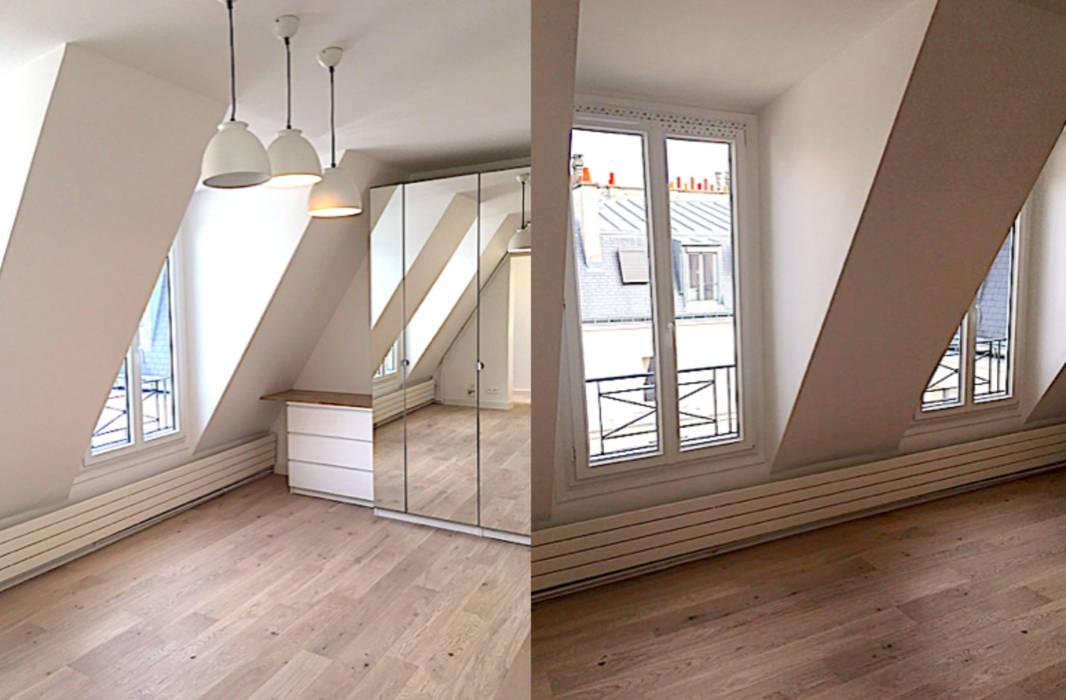 Appartement sous comble rue de la pompe paris 16: salon de style par ...