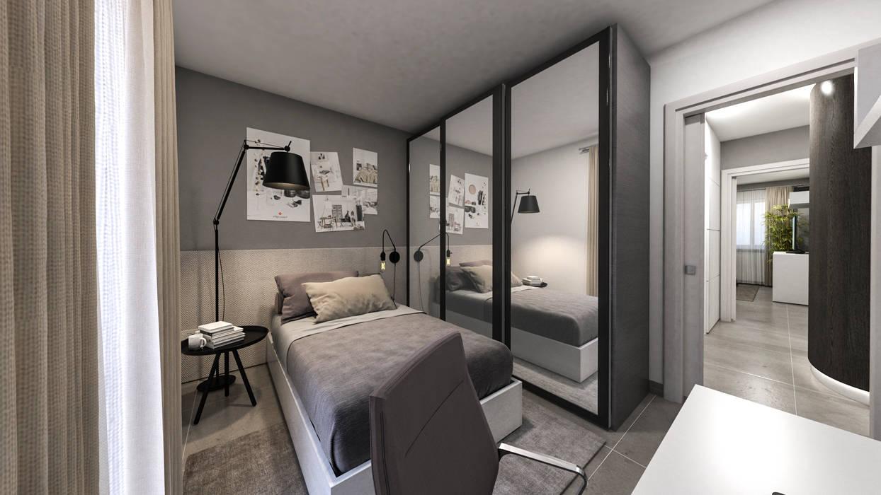 Camera singola camera da letto moderna di studiosagitair ...
