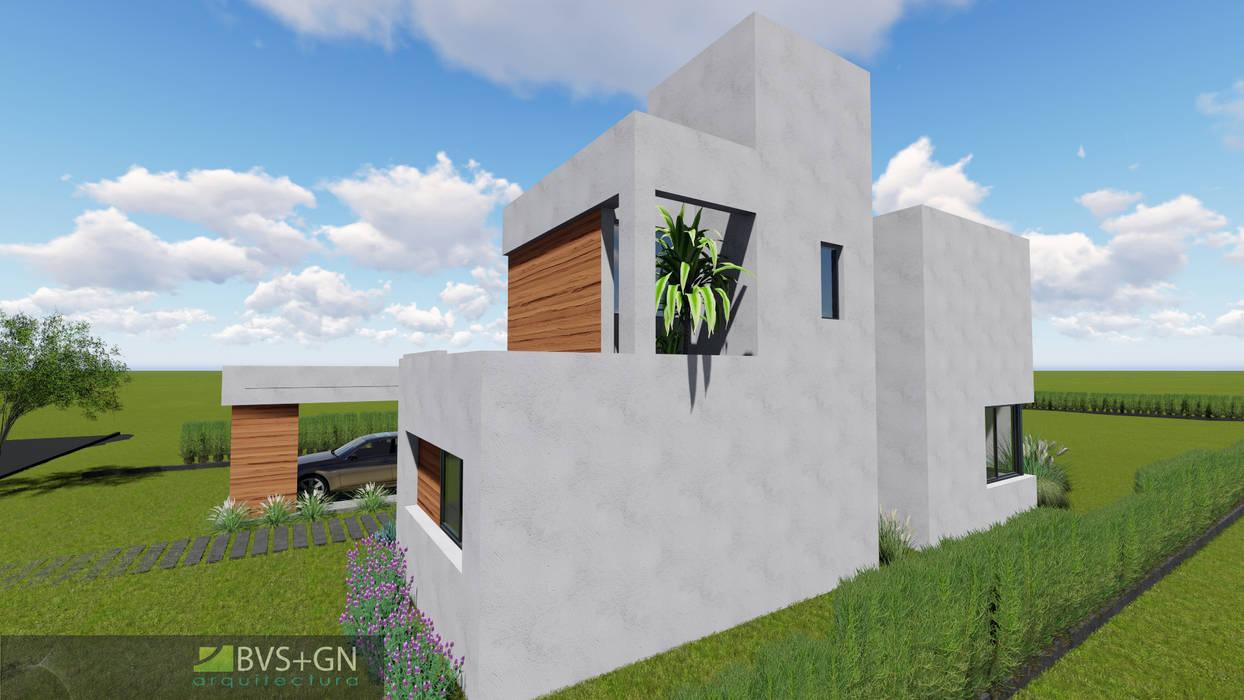 VIVIENDA O: Casas de estilo moderno por BVS+GN ARQUITECTURA