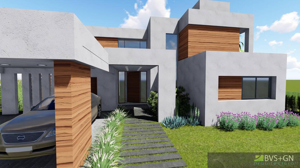 VIVIENDA O: Casas de estilo  por BVS+GN ARQUITECTURA