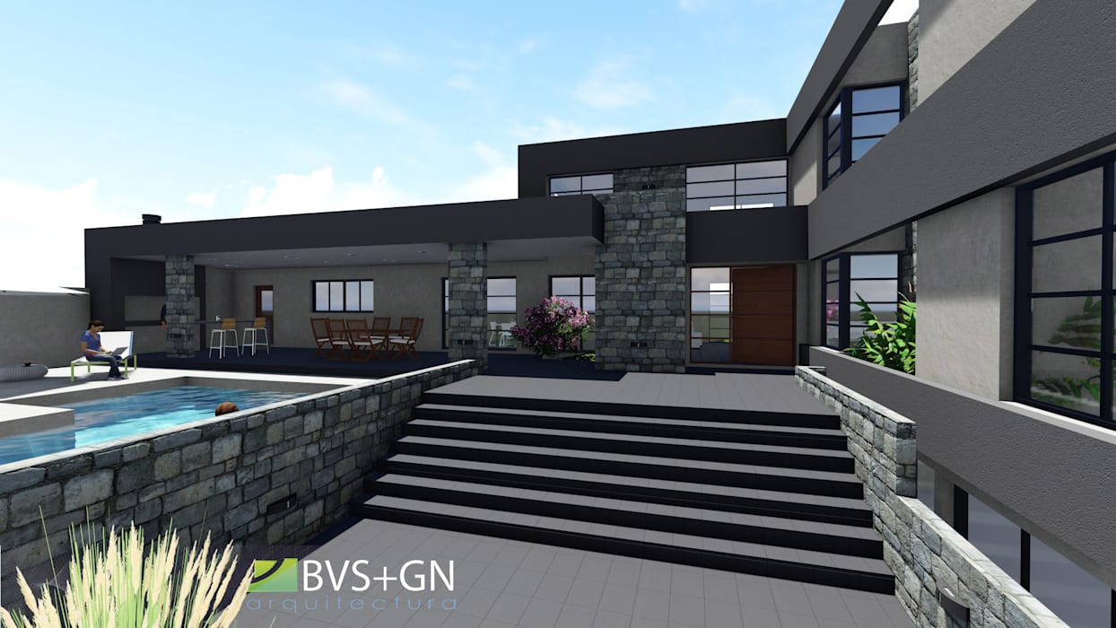 VIVIENDA VB: Casas de estilo  por BVS+GN ARQUITECTURA