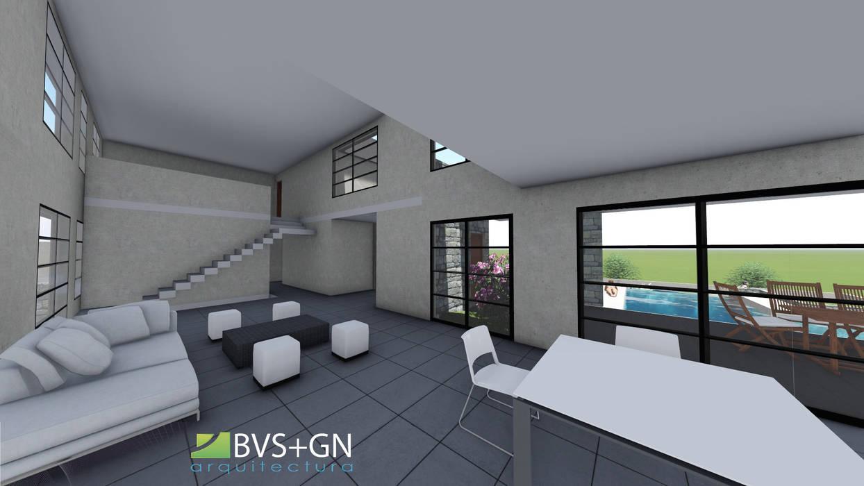 VIVIENDA VB: Livings de estilo moderno por BVS+GN ARQUITECTURA