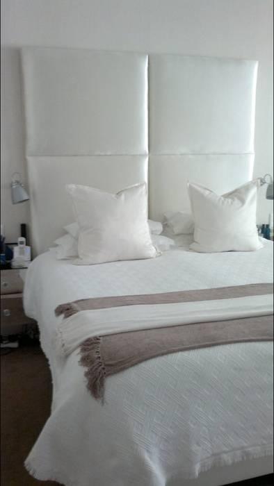 Elliott Designs Studio ห้องนอนเตียงนอนและหัวเตียง สิ่งทอ White