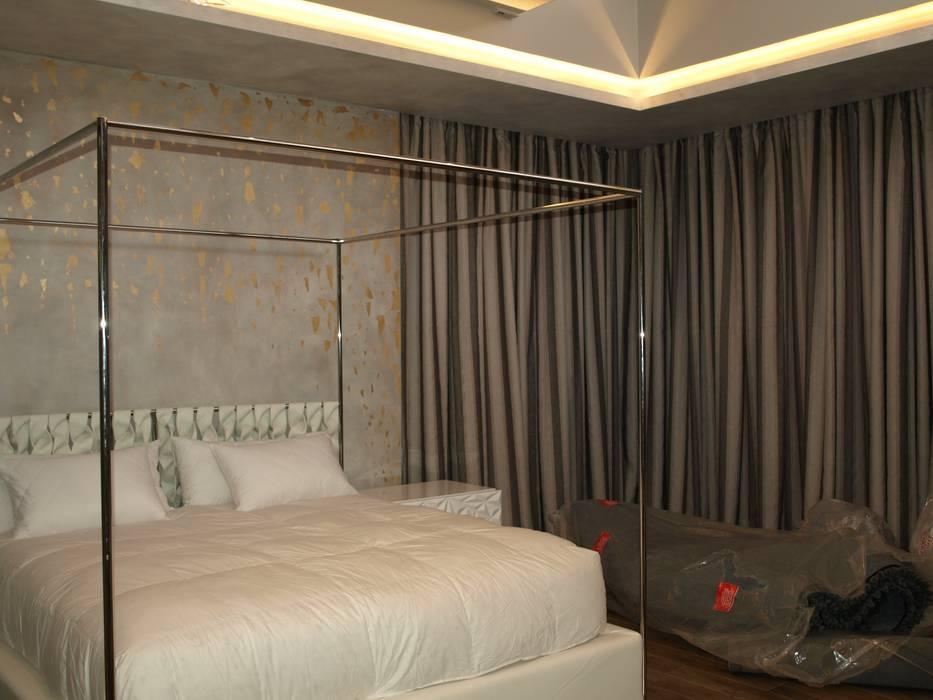 Elliott Designs Studio ห้องนอนไฟห้องนอน อลูมิเนียมและสังกะสี Amber/Gold