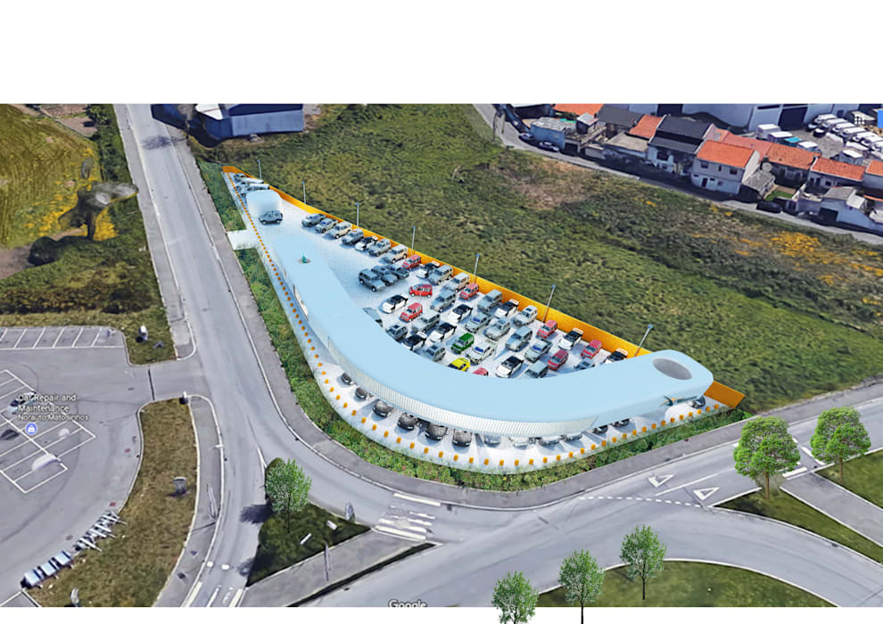 معارض سيارات تنفيذ Terra Arquitectos