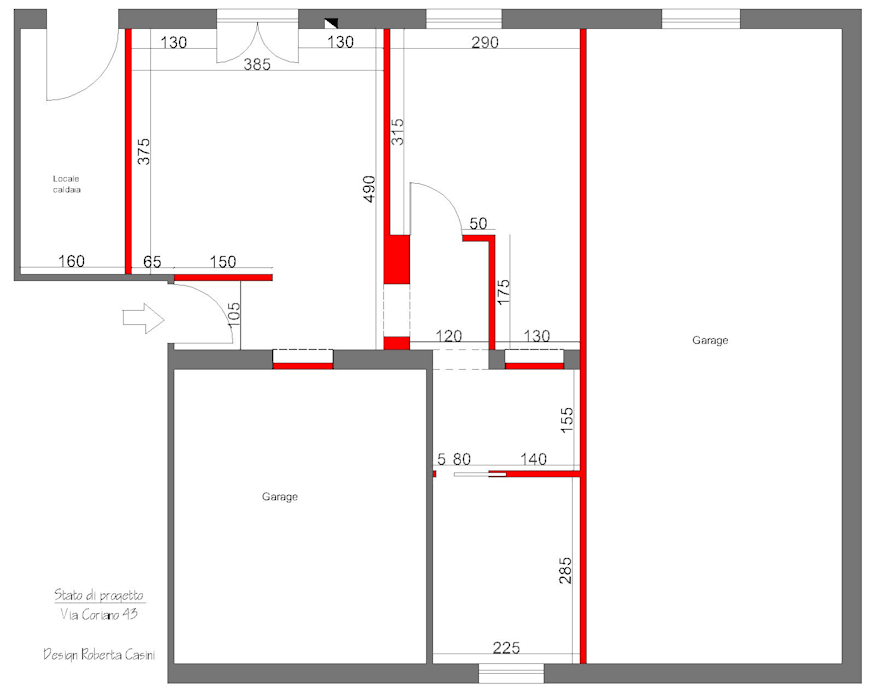 Planimetria stato di fatto: Soggiorno in stile in stile Minimalista di MINIMAL di Casini Roberta