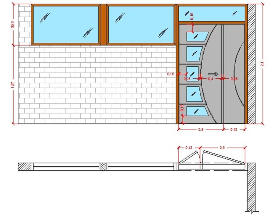 Diseño Mobiliario para oficina: Puertas interiores de estilo  por Arq. Barbara Bolivar, Moderno Madera Acabado en madera