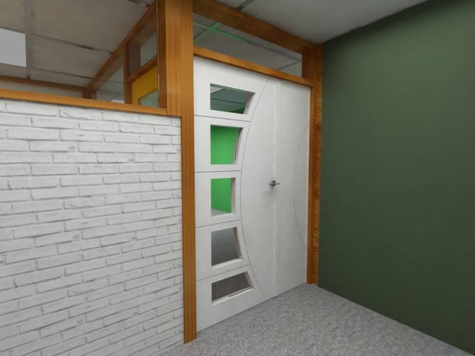 Diseño Mobiliario para oficina: Puertas interiores de estilo  por Arq. Barbara Bolivar,