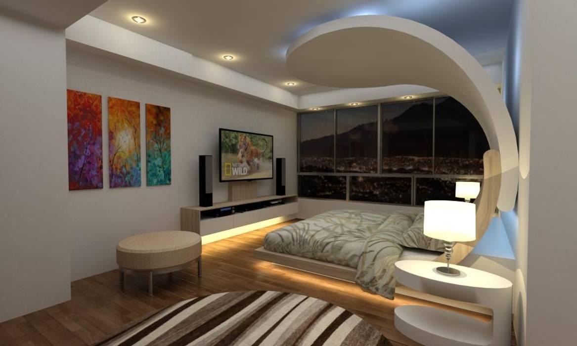 Diseño Mobiliario Habitacion Principal: Cuartos de estilo  por Arq. Barbara Bolivar, Moderno Madera Acabado en madera