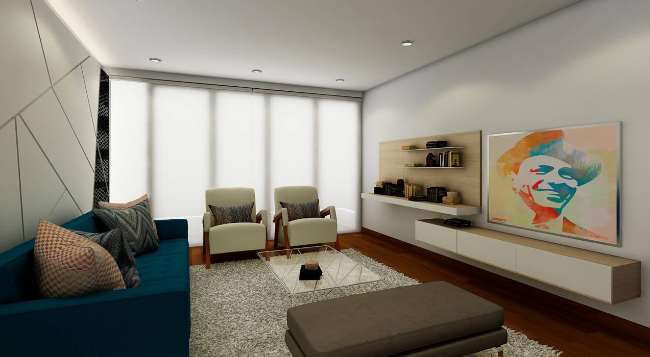 PROYECTO JG: Salas / recibidores de estilo  por Luis Escobar Interiorismo,