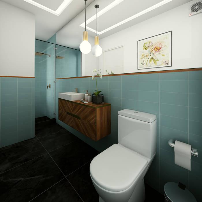 PROYECTO CR: Baños de estilo  por Luis Escobar Interiorismo