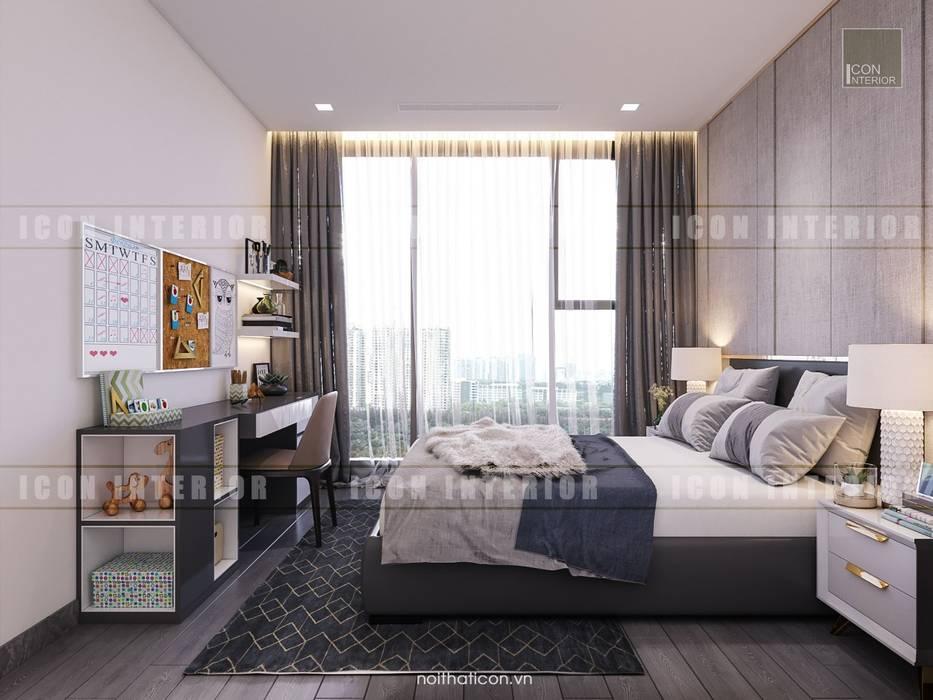 Vinhomes Golden River - Aqua 3:  Phòng ngủ by ICON INTERIOR