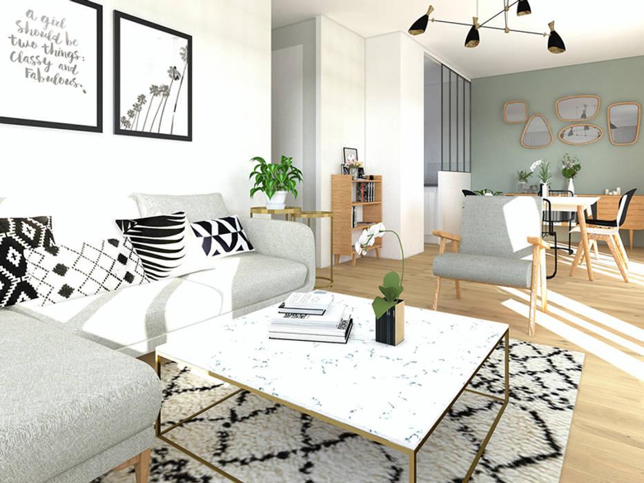 Aménagement et décoration du séjour salon moderne par gram ...