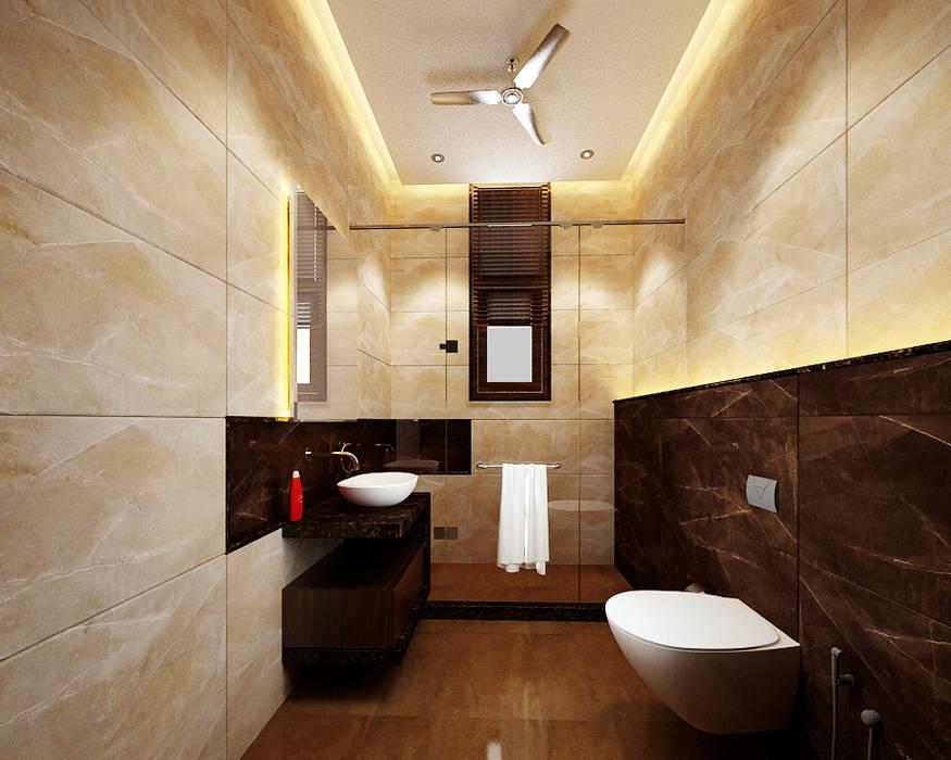 Residence-Pinjaniji:  Bathroom by KHOWAL ARCHITECTS + PLANNERS,Modern