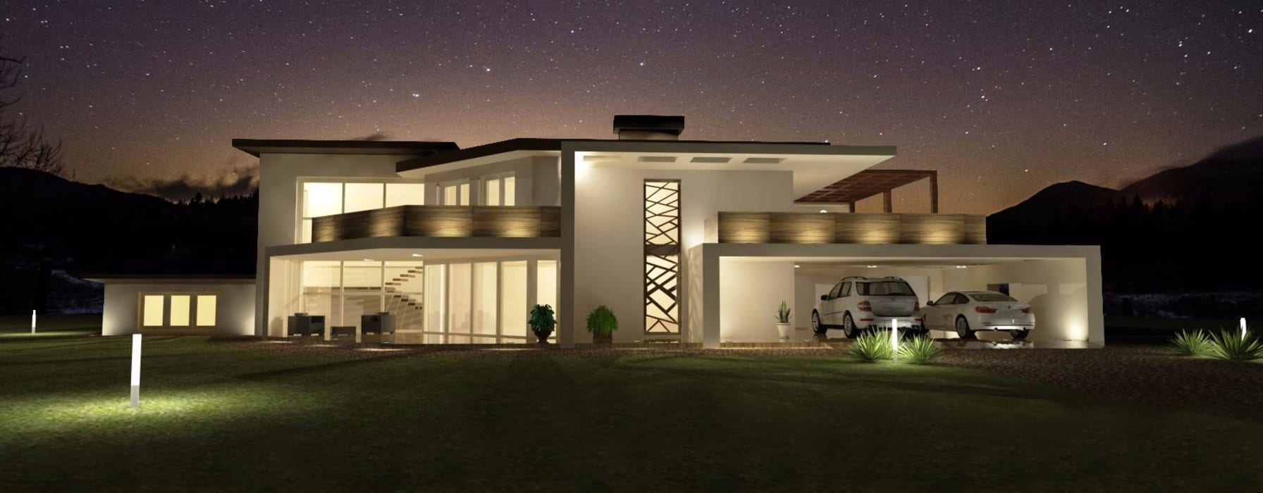 Progettazione Villa in legno VillaBio: Tetto piano in stile  di VillaBio