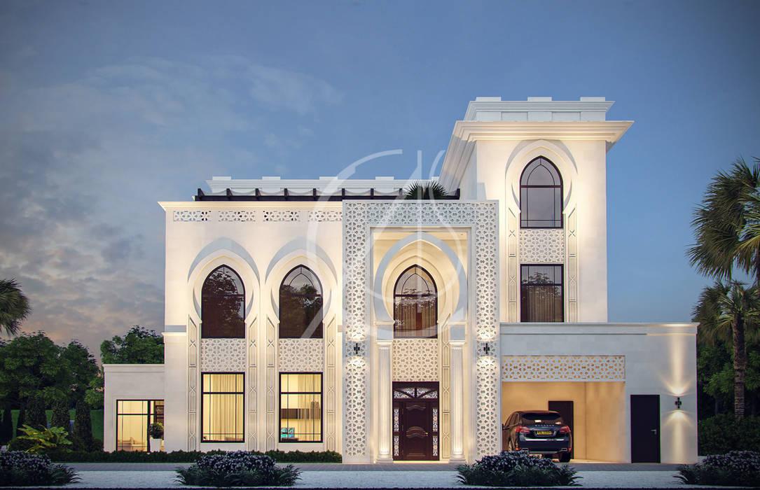 Main Entrance:  Villas by Comelite Architecture, Structure and Interior Design , Classic