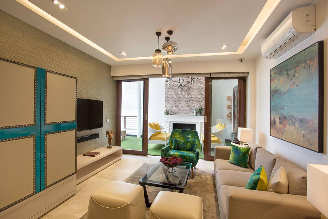 Chattarpur Farm House New Delhi Living Room By Total Interiors